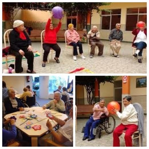 actividades de grupo en residencias de ancianos